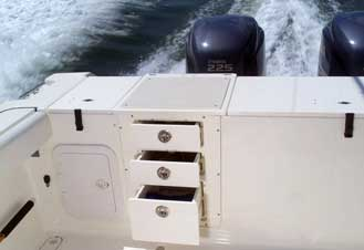 King Starboard makes for beautiful boat cabinets and walkways.