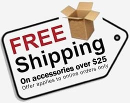 Free Shipping on Acessory Orders Over $25!