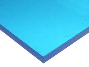 ACRYLIC SHEET - BLUE 2069 CAST PAPER-MASKED (TRANSPARENT 55%)