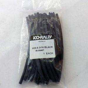 "HEAT SHRINK TUBE - BLACK (6"" LENGTHS - ROUND)"