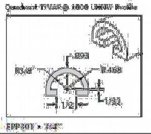 UHMW Natural Half Round-Epp301