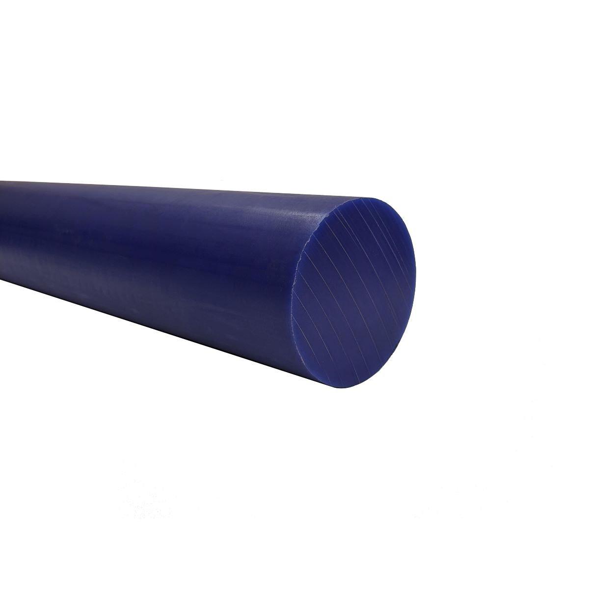 "3.5/"" Dia by 48/"" Inch Natural Color UHMW Rod Plastic Polyethylene Bar FDA NSF"